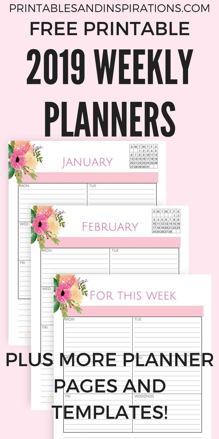 our pink 2019 life planner calendar free printable is here