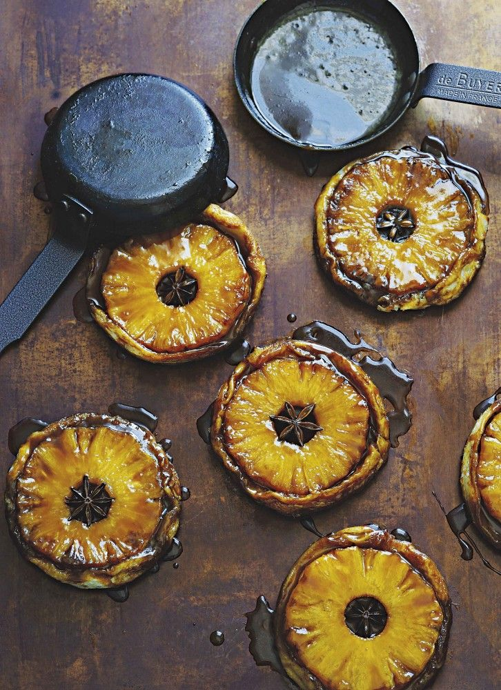 Pineapple and star anise tarte tatin