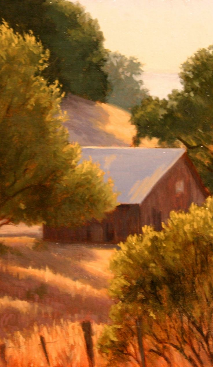 """Golden Light"", Northern California landscape painting ..."