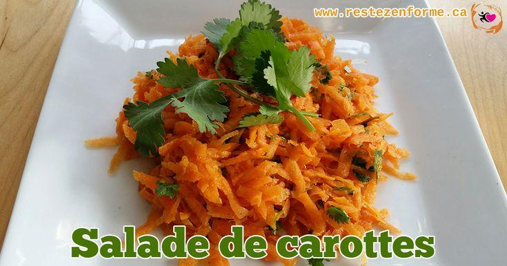 Salade de carottes savoureuse