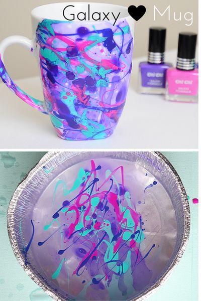 How to make a Galaxy Water Marble Mug! DIY Marble Mug! Galaxy Mug DIY!