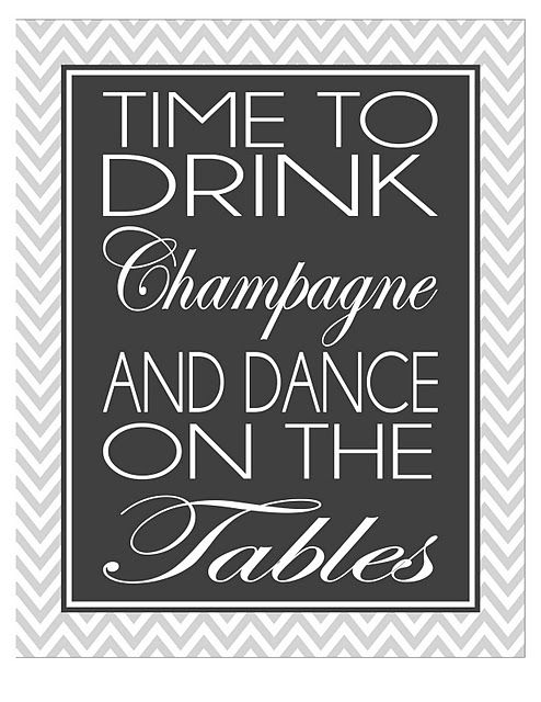 free new year's eve sign, champagne, dance