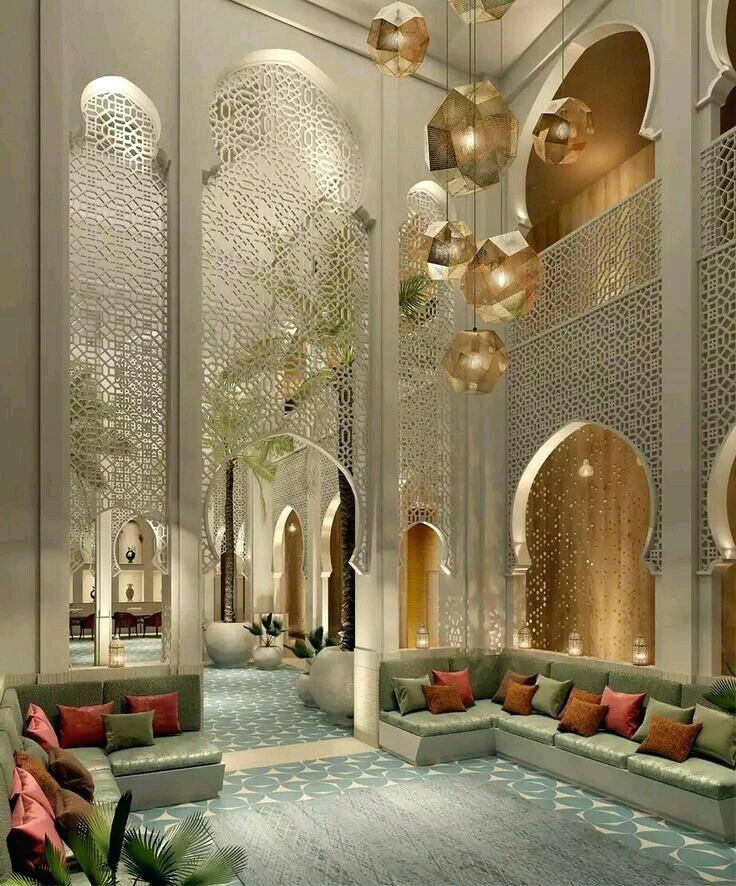Moderne marokkanische Einrichtung #wohnideen #sitzkissen #salon ...