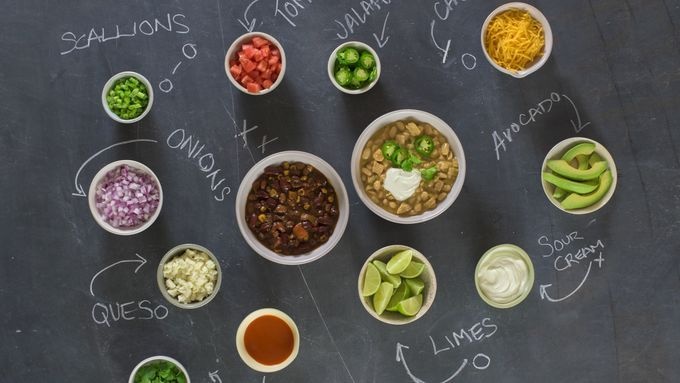 Top your chili your own way in this fun and creative chili toppings bar.
