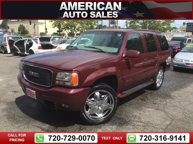 2000 GMC Yukon SLE 4WD Red Call for Price  miles 720-729-0070 Transmission: Automatic  #GMC #Yukon #used #cars #AmericanAutoSalesandLeasing #Denver #CO #tapcars