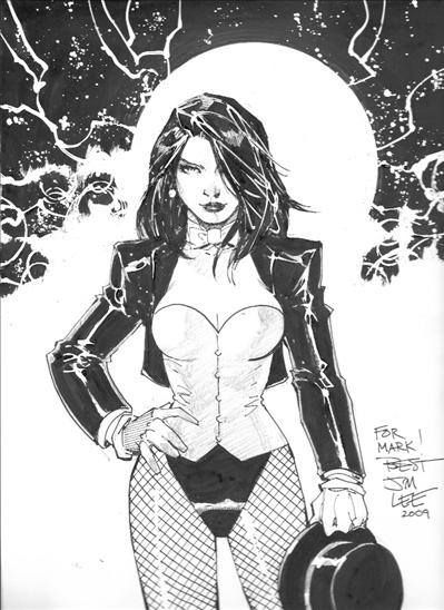 "Zatanna, one of my favorite heros, sporting a leotard and fishnets. I was hey for Halloween once and the #1 comment/question I got for the night was ""How are you not cold? You're so naked""."