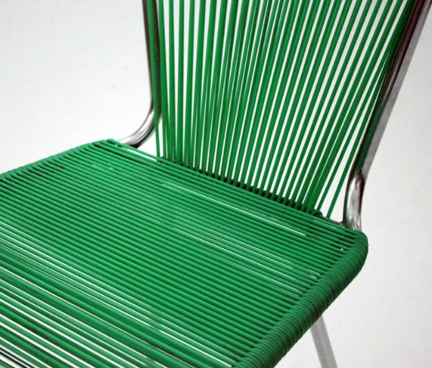 chaise 39 fils 39 scoubidou vert ann es 50 60 mes chaises pinterest scoubidou. Black Bedroom Furniture Sets. Home Design Ideas