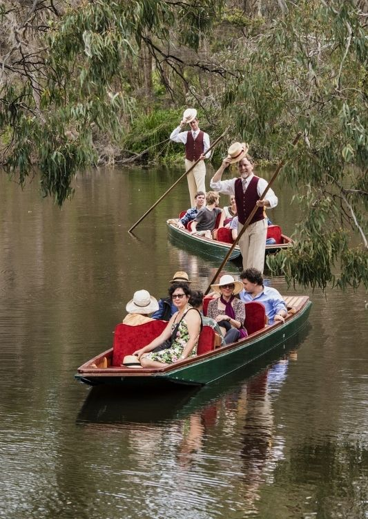 Cruising around Dallachy Island in the Royal Botanic Gardens Melbourne www.punttours.com.au