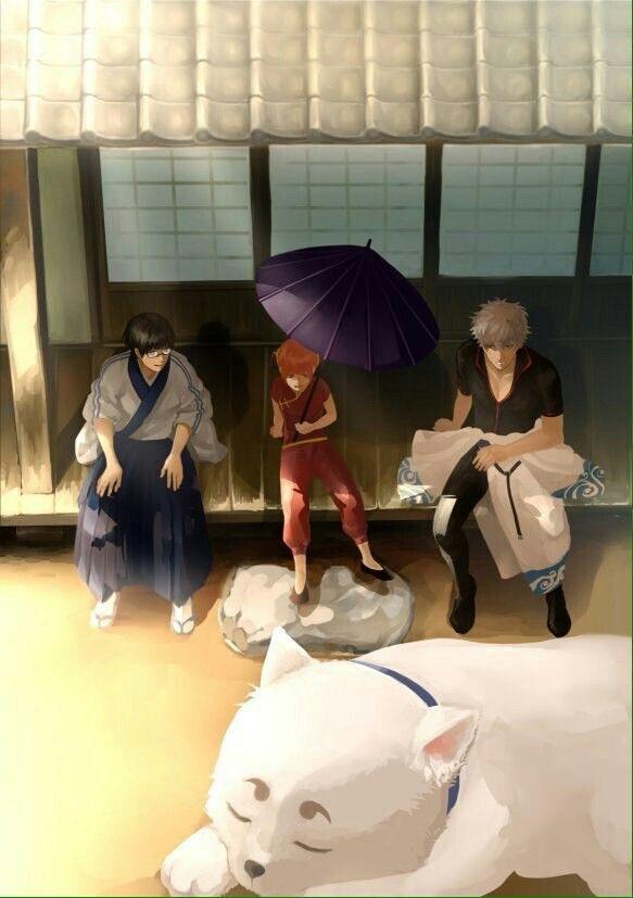Gintama, Kagura, Shimura Sinpachi, Sakata Gintoki