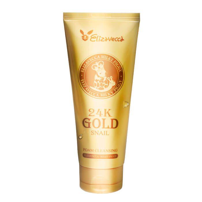 Очищающая пенка Elizavecca 24K Gold Snail Cleansing Foam