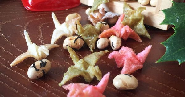 節分に!かわいい「三色折り鶴あられ」を作ってみよう! | クックパッドニュース