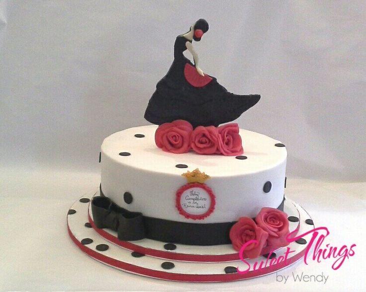 Flamenco dancer cake    sweetthingsbywendy.ca