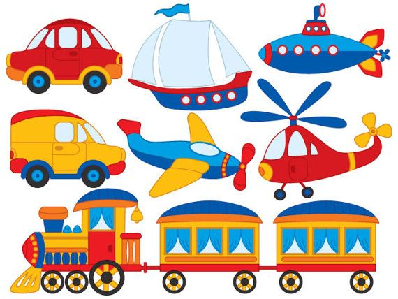 Vector Transport Clipart, Boat Clipart
