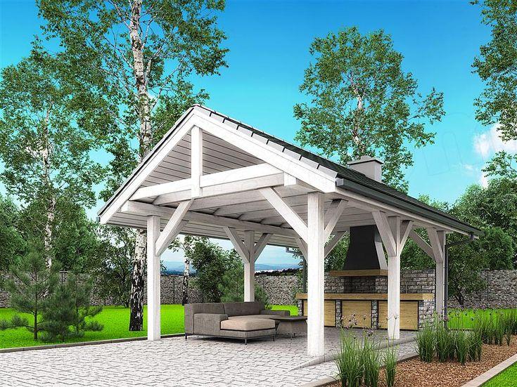 projekt A1 - altana ogrodowa z grillem BBH1000