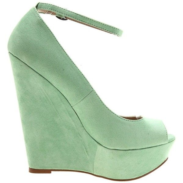 Cheeky Mint Green ❤ liked on Polyvore