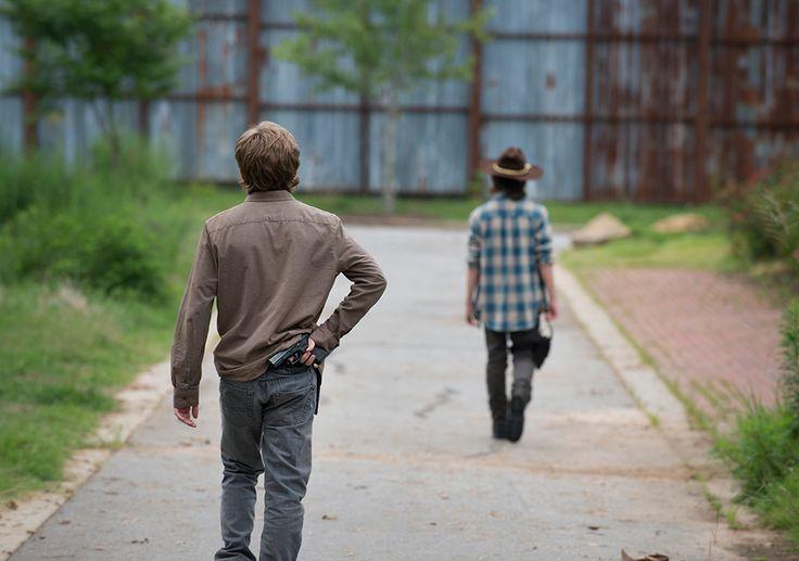 The Walking Dead Season 6 Episode Photos. Ron and Carl