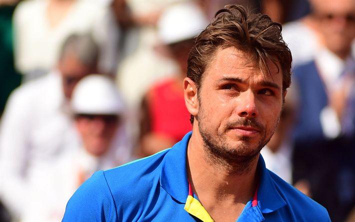 Télécharger fonds d'écran Stan Wawrinka, l'ATP World Tour, le Tennis, ATP, le portrait, le joueur de tennis Suisse, les stars du tennis
