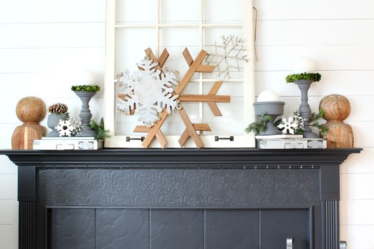 Tips for making a beautiful winter mantle with thrift store finds