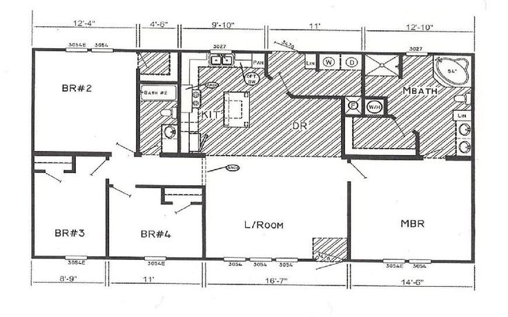 Double Wide Floor Plans Nc: Double Wide Mobile Home Floor Plans