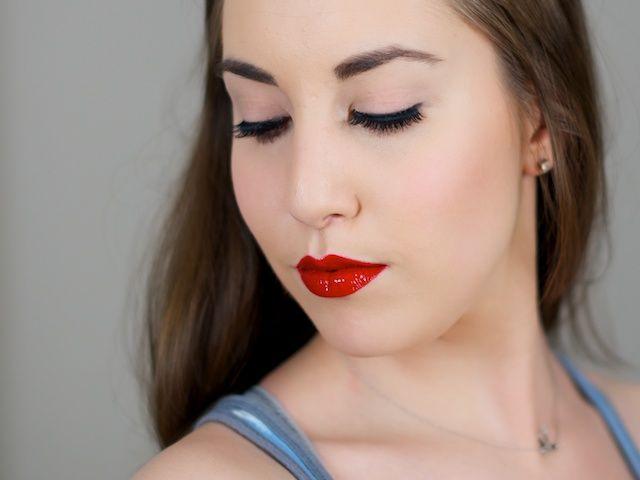 MAC Russian Red lipstick and lipglass