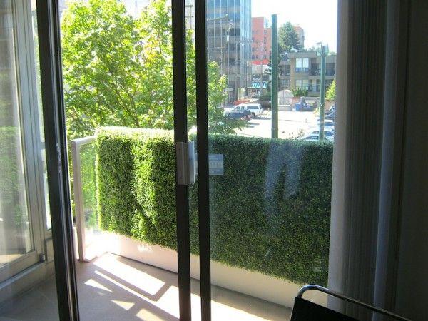 greenscape design artificial boxwood hedge privacy screen vancouver balcony privacy screenprivacy screensprivacy wallscondo - Condo Patio Privacy Ideas