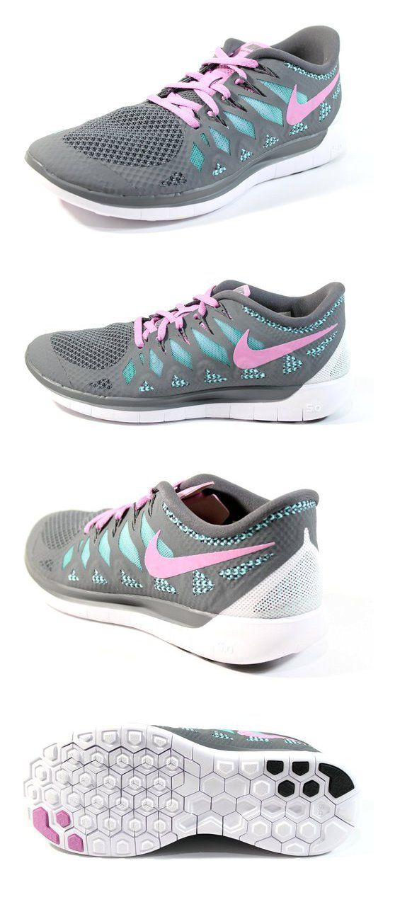 $99.99 - Nike Womens Free 5.0 2014 Running Shoes Grey/Pink Color Size 8.5 #shoes #nike #2015