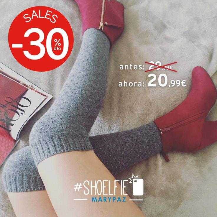HASTA 50% DTO.¡¡REBAJAS MARYPAZ!! En tiendas físicas y online  #Shoelfie by @lisstyle.co  Hazte con este BOTÍN ROJO aquí ►http://www.marypaz.com/woman/botin/botin-con-cremalleras-0135615i2046-75017.html  #SoyYoSoyMARYPAZ #Follow #winter #love #fashion #colour #tendencias #marypaz #locaporlamoda #BFF #igers #moda #zapatos #trendy #look #itgirl #invierno #AW16 #igersoftheday #girl  **Promoción válida desde el 07 de enero.