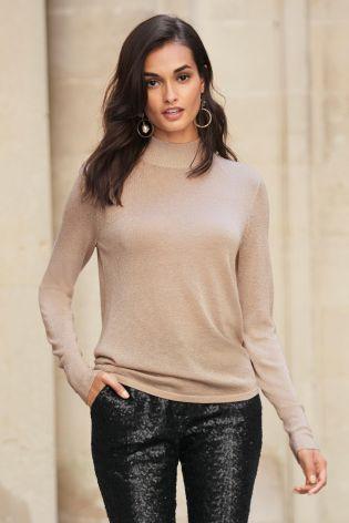 Metallic-Pullover mit Wickeldesign hinten heute online kaufen bei Next: Deutschland
