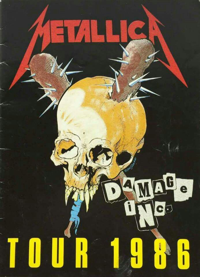 1986 Metallica tour book
