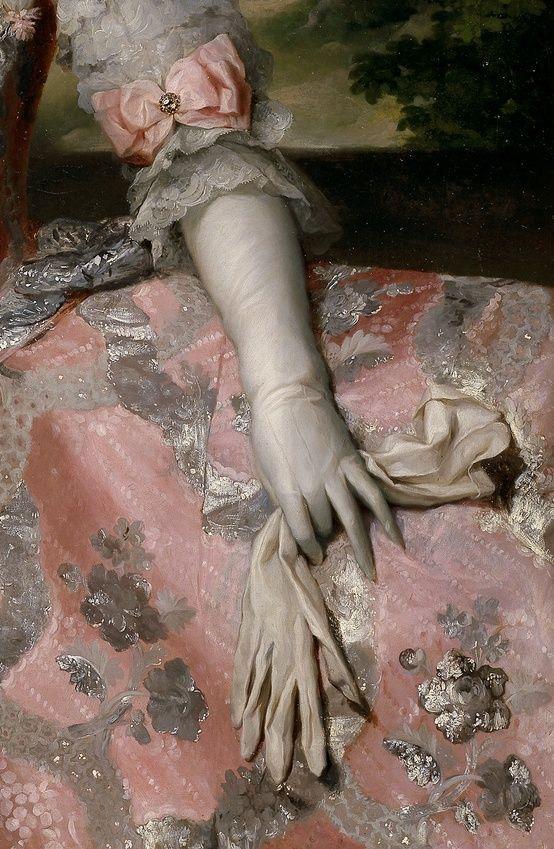 Details of Queen Maria Carolina of Austria of Naples by Anton Raphael Mengs, 1768-1775.