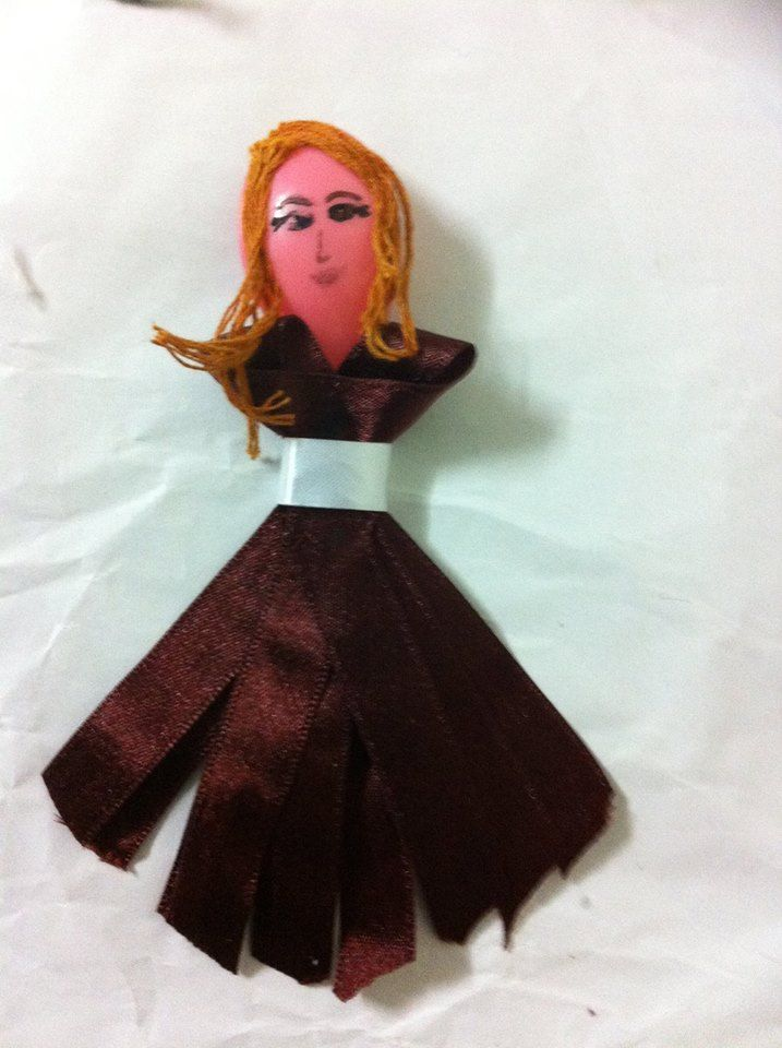 Plastic Spoon Doll: