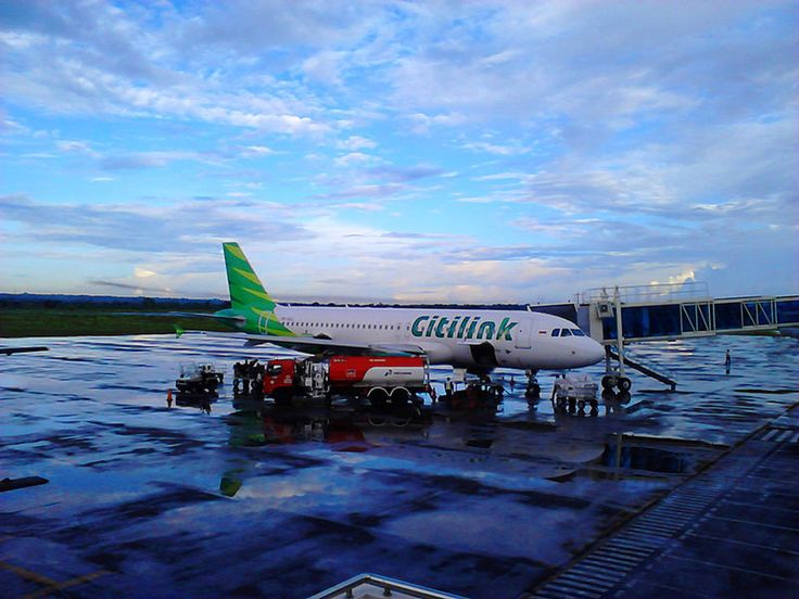 Citilink Airbus A320-200 parking in Apron at Lombok International Airport Photo by Fathul Azis