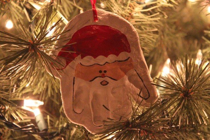 Weihnachtsbaumschmuck - Babyhand Abdruck Weihnachtsmann