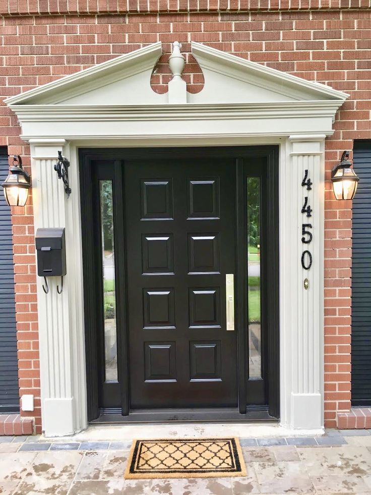Stunning #handmade #custommade #mahogany #AmberwoodDoor with clear glass; velvety rich Brown Mahogany stain; strong #Emtek Lugano lockset in Satin Nickel. Call or come into Amberwood's outstanding showroom today and discover your dream #doors 416-213-8007 #AmberwoodDoors proudly ships #worldwide - Call today for shipping details! 1-800-861-3591 #IHaveThisThingWithDoors #DoorsOfToronto #DoorsOfDistinction #DoorsOfTheWorld #CurbAppeal