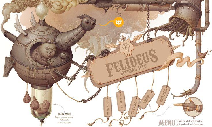 Steampunkish Header by Felideus.deviantart.com on @deviantART