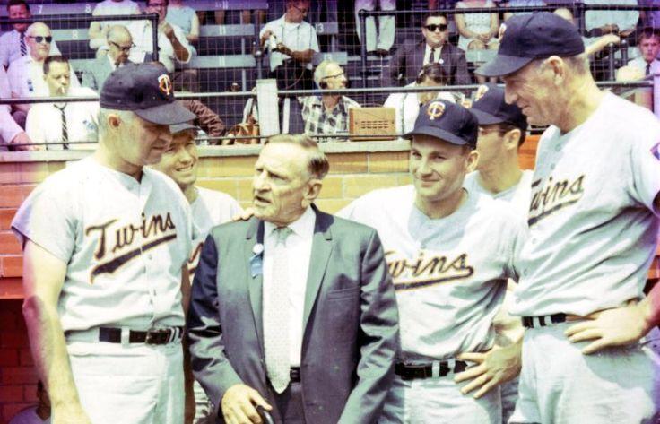 1966: Casey Stengel, Killebrew & other #MNTwins meet at the HOF game.