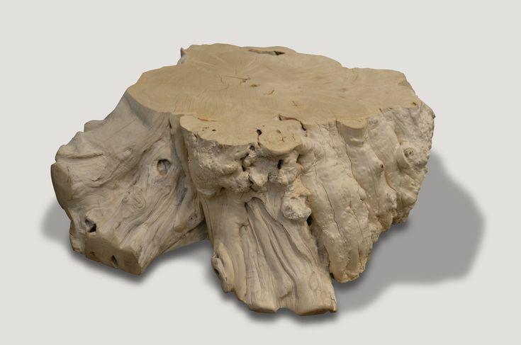 Bleached Teak Root Coffee Table BBR | Organic modern, Teak ...
