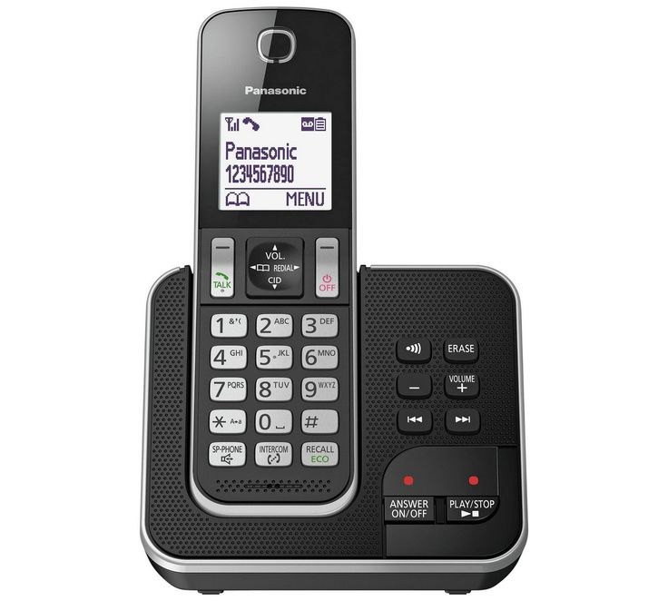 Buy Panasonic KXTGD320 Cordless Telephone with Answer M/c-Single at Argos.co.uk, visit Argos.co.uk to shop online for Telephones, Telephones and accessories, Technology