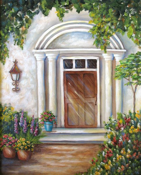 MY FRONT DOOR an original acrylic painting by DianeTrierweiler, $149.99