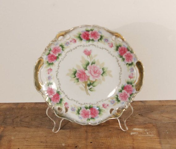 Japanese Plate Antique China Decorative Plate by ClockworkRummage