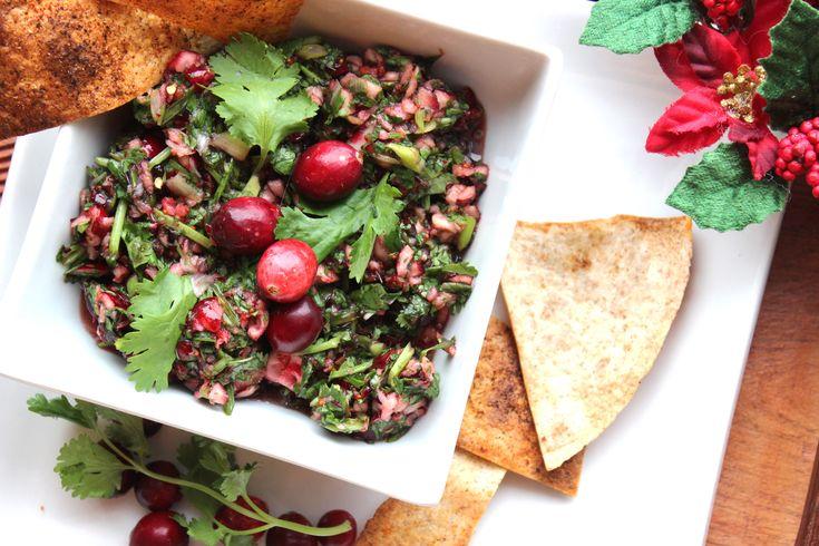 Salsa à la canneberge et à la coriandre #recettesduqc #entree
