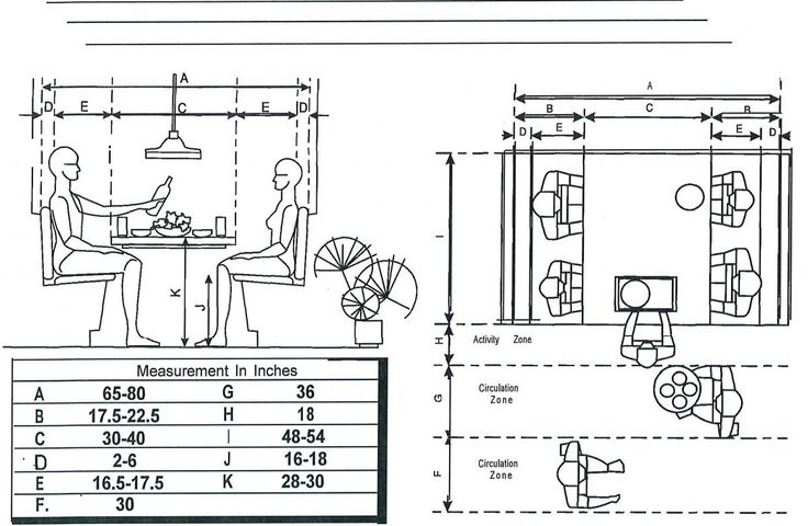MEASUREMENTS FOR A breakfast BOOTH | Floor Plans, Booths Tables Bars