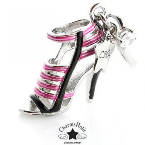 Two-Tone Strappy Sandal Charm