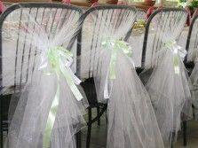 Декор стульев для свадьбы_банты на гостевые стулья