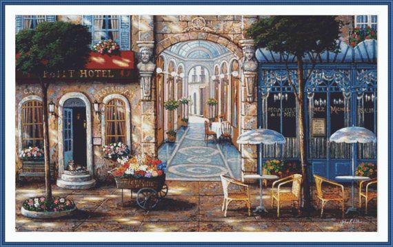 Petit Hotel Counted cross stitch pattern in PDF by Maxispatterns