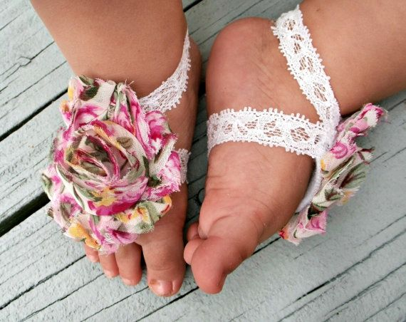 Baby Barefoot Sandals; so stinkin' cute