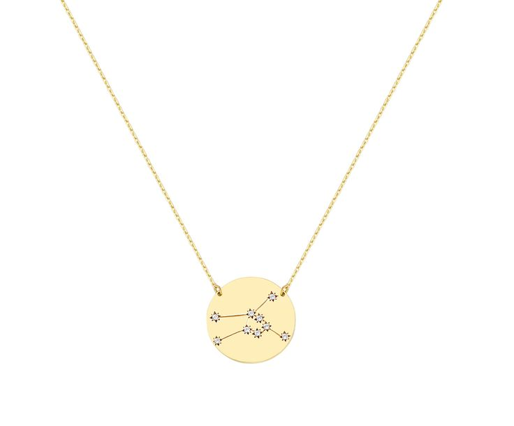 Taurus necklace in 9K