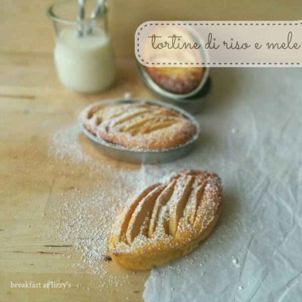 Tortine di riso e mele (senza glutine) - rice and apple tart [gluten free]
