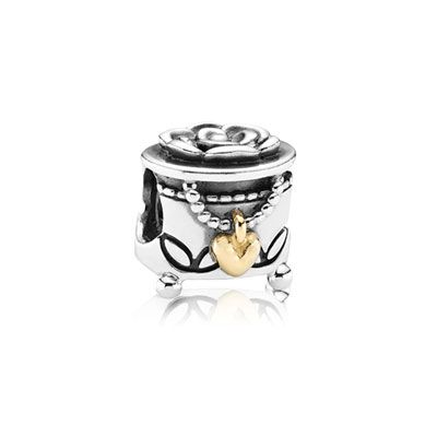 PANDORA jewelry box charm with 'my unforgettable moment' engraved on the bottom. $55 #PANDORAcharm #TwoTone - me bracelet