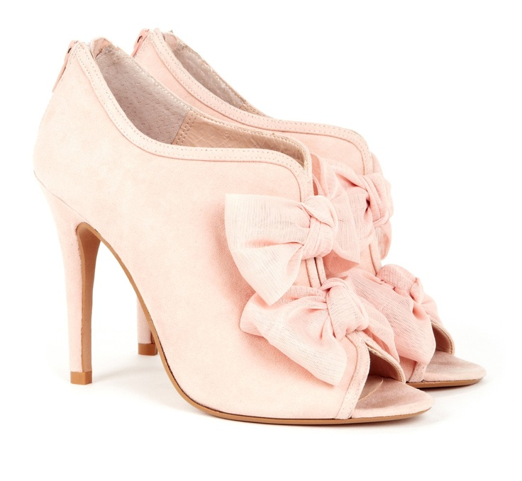 Peep toe booties with bows! So feminine and chic!